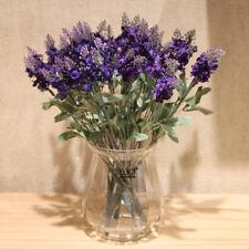 10 Heads Lavender Bouquet Artificial Silk Flowers Wedding Party Home Decoration