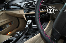 FOR LEXUS IS MK2 05+ PERFORATED LEATHER STEERING WHEEL COVER HOT PINK DOUBLE STT