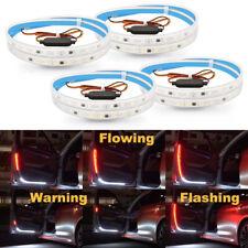 4Pcs Car Door Open Warning Lamp LED Lights Strip Flowing Flashing Anti-collision