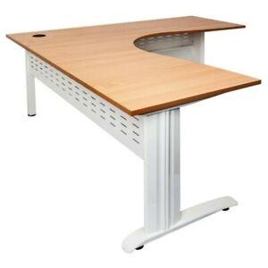 Rapid Span Corner Desk with Metal base Office Desk Office Furniture
