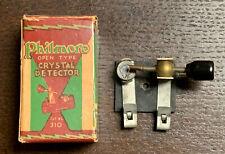 Vintage Philmore open type Crystal Detector No. 310 with Original Carton 1920s