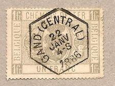 1882 Belgium Railroad Stamp.'Chemins de Fer.1 Fr./Coat of Arms).Pp1/Q6