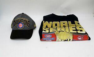 Lot of 2 MLB Chicago Cubs 2016 World Series Women Hat & 2XL T-Shirt C0208