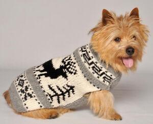 Chilly Dog Reindeer Shawl Wool Dog Sweater Sizes XXS-XXXL