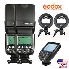 US 2X Godox V860II-C 2.4G i-TTL HSS Speedlite Flash Xpro-c Transmitter For Canon