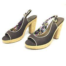 Tahari Barb Peep Toe Heels - Size 7M - Brown