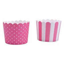 Mini Cupcake-Förmchen, pink-weiß, 12 Stück