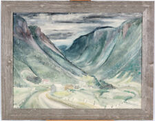 Jocelyn Taylor (1899-1992) RCA OSA Canadian Quebec Gaspe Mountains Acrylic/Board