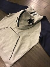 Reebok Dallas Cowboys NFL Helmet Hoodie Sweatshirt Gray Sz Medium Men's New NOS