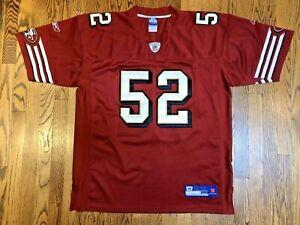 San Francisco 49ers PATRICK WILLIS #52 Reebok Authentic Stitched Jersey Size 52