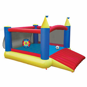 Banzai 16419 Slide 'n Score Activity Bouncer Inflatable Bounce House with Games