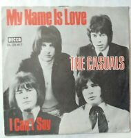 "THE CASUALS ⚠️Unplayed⚠️-7""Vinyl-1973-My name is Love/I can't say-DECCA DL 25417"