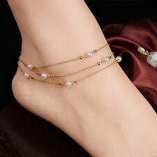 Femmes Bracelet de Cheville de Plage de Bijoux en Perles