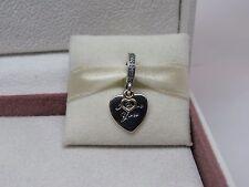 New w/Hinge Box Pandora I Love You Forever Heart w14K Charm 792042CZ Anniversary