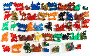 R&L 1969 CEREAL TOYS - CRAZY CAMEL TRAIN - HUGE BULK MEGA LOT, TONNAGE - DAMAGED