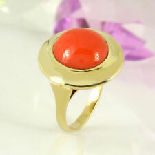Ringe mit Korallen-Edelsteinen für Damen (17,2 mm Ø) Sets mit 54
