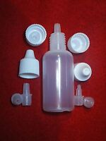 25x New 0.47 oz 14 ml Clear Plastic Bottle Dropper Tops