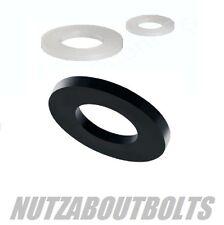 Blanco o negro nailon 66 plástico Arandela Forma Un Planas m3/4/5/6/8/10/12mm