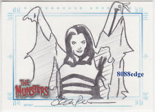 "2005 THE MUNSTERS HAND-DRAWN SKETCH SKETCHAFEX CARD ""LILY MUNSTER"" BY SEAN PENCE"
