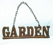 GARDEN SIGN-ALL METAL CONSTRUCTION-NEW OTHER NOT IN ORIGINAL PACKAGING
