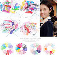 20Pcs/Set Girl Candy Color Metal Snap Hair Clips Hair Pins BB Hairpin Barrettes