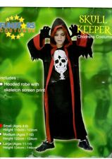 BOYS SKULL KEEPER FANCY DRESS Halloween Costume NEW