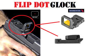 Folding Flip Up Red Dot Sight FlipDot Reflex Optic Sight RMR For MOS Glock
