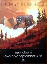 Weezer Everything Will Be Alright Ltd Ed Rare Huge Tour Poster +Free Rock Poster