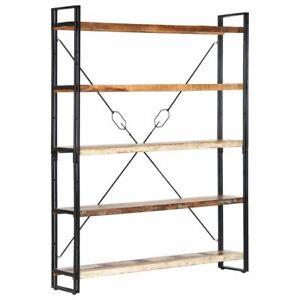 Industrial Style Bookshelf 5-Tier Open Shelf Display Rack Book Cabinet Stand