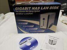 Mobile Landisk Gigabit NAS LAN Disk NS-01 Mini Server System New