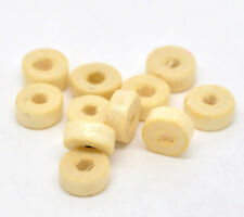 200 x NATURAL WOODEN  RONDELLE SPACER BEADS - 8mm - UK SELLER - SAME DAY POST