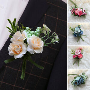 Bridal/Bridesmaid's Brooch PinS Corsage Boutonniere Wrist Flower Wedding Party