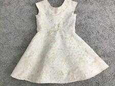 Armario de las niñas Matildas oro y crema Jacquard Dress 5 años de edad