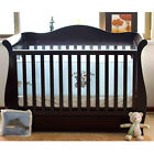 Walnut New Zealand Pine 3-in-1 Baby Sleigh Cot Bed with Drawersn Free Mattress