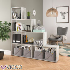 Vicco Treppenregal Asym Beton OPTIK Raumteiler Bücherregal Regal Wandregal