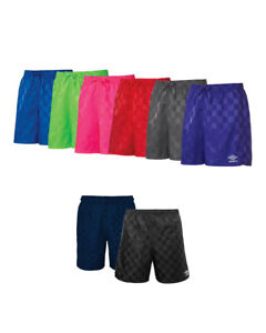 UMBRO Checkered Kids Soccer Sports Athletic Shorts 3XS-2XS-XS-S-M-L-XL NWT