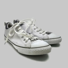 86c96b31951a Converse All Star Chuck Taylor White Leather Sneakers Athletic Shoes Junior  Sz 5