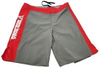 REVGEAR fighting UFC MMA Shorts Gray Red Shorts Size XL Krav Maga Worldwide