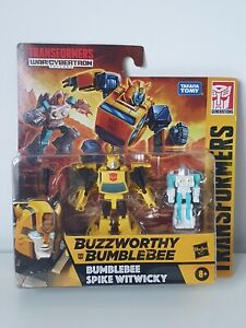 TRANSFORMERS BUZZWORTHY / BUMBLEBEE & SPIKE WITWICKY / WAR FOR CYBERTRON FIGURES