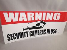 WHOLESALE LOT OF 10 WARNING SECURITY CAMERAS IN USE STICKER SIGN security hidden
