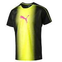 Puma IT evo TRG Touch Cat Graphic Black Yellow Mens T-Shirt 654843 57 UA48