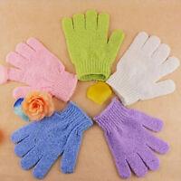 2 Pcs Shower Bath Gloves Exfoliating Wash Skin Spa Massage Loofah Body Scrubber