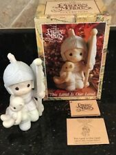 1991 PRECIOUS MOMENTS THIS LAND IS OUR LAND W/BOX & COA LIMITED/CLOSED EDITION