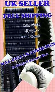 Individual Mink BCDJ Semi Permanent False/Fake Eyelashes Faux Lash Extensions UK