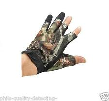 Metal Detecting Gloves,1 x Pair Of Lightweight Semi-Fingerless, Real Tree Camo.