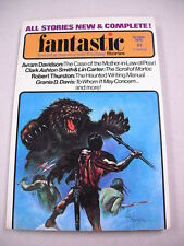 """FANTASTIC STORIES"" 10/75 VF! CLARK ASHTON SMITH `MYTHOS`STORY! AVRAM DAVIDSON!"