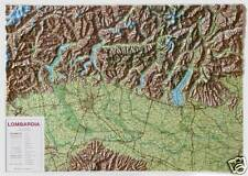 LOMBARDIA 93X67 CM CARTA REGIONALE IN RILIEVO LAC (MAPPA/CARTINA) 9788879144186