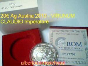 20 euro 2010 Ag Austria Autriche Osterreich Virunum Kaiser Claudiu Австрия