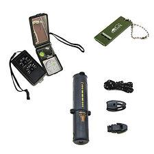 10 In 1 Survival Fire Starter Compass Whistle Scraper kit Magnesium Flint Stone