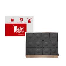 Craie billard Master boite de 12 craies billards noire
